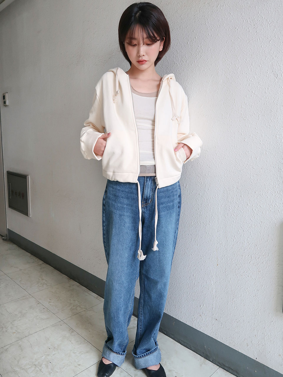 모델소장♡ daily wide fit denim pants