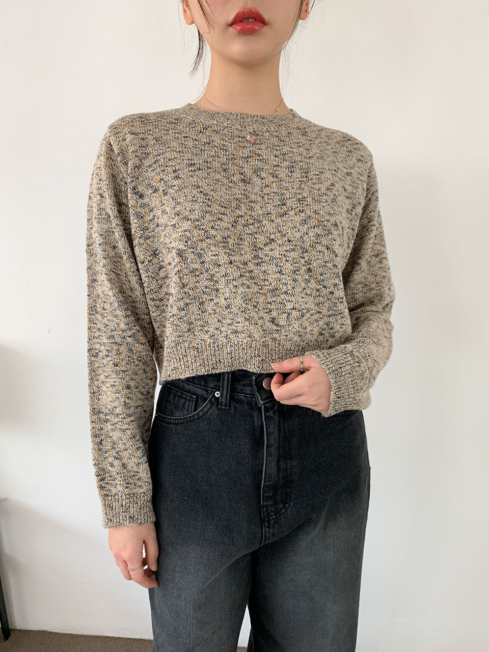 cookie color crop knit(3color)