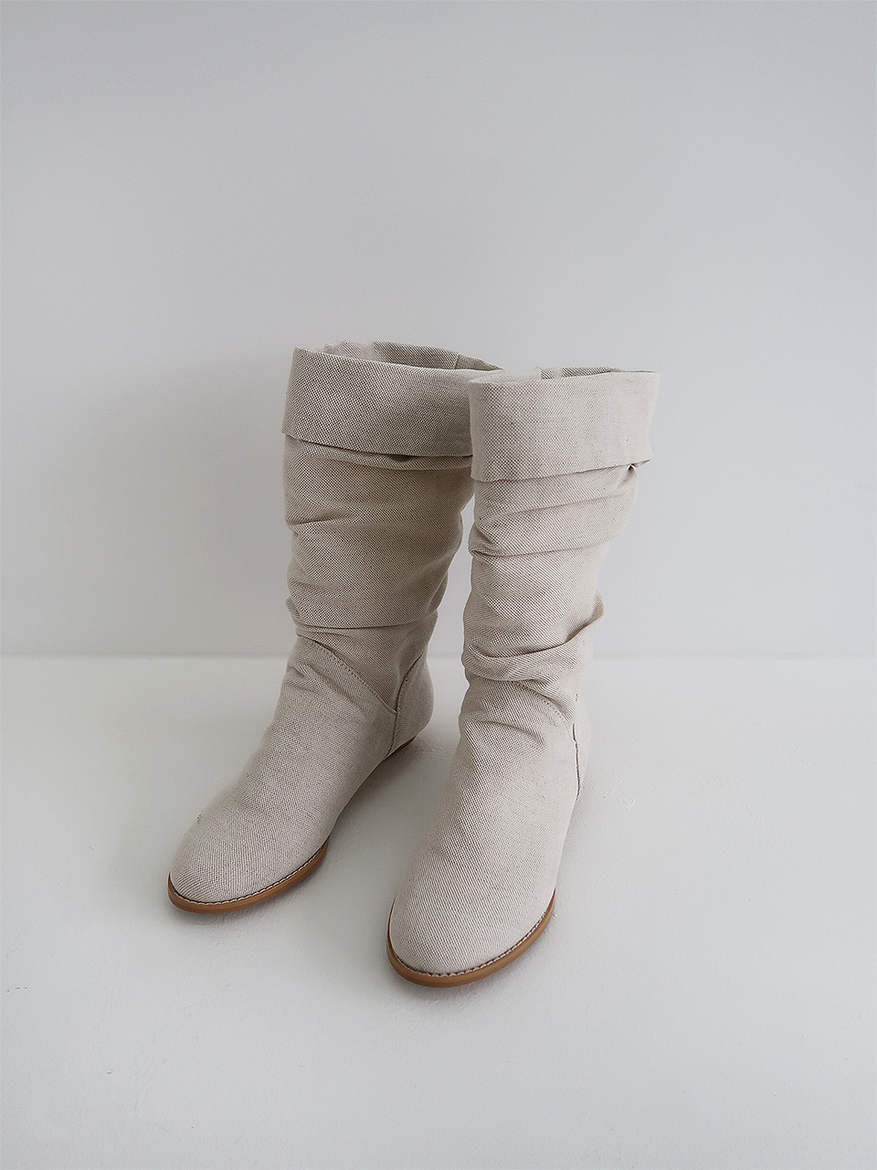 linen middle boots