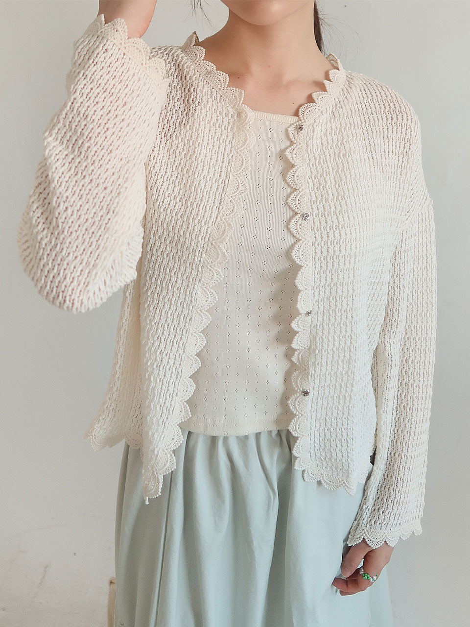 knitting snap cardigan(2color)