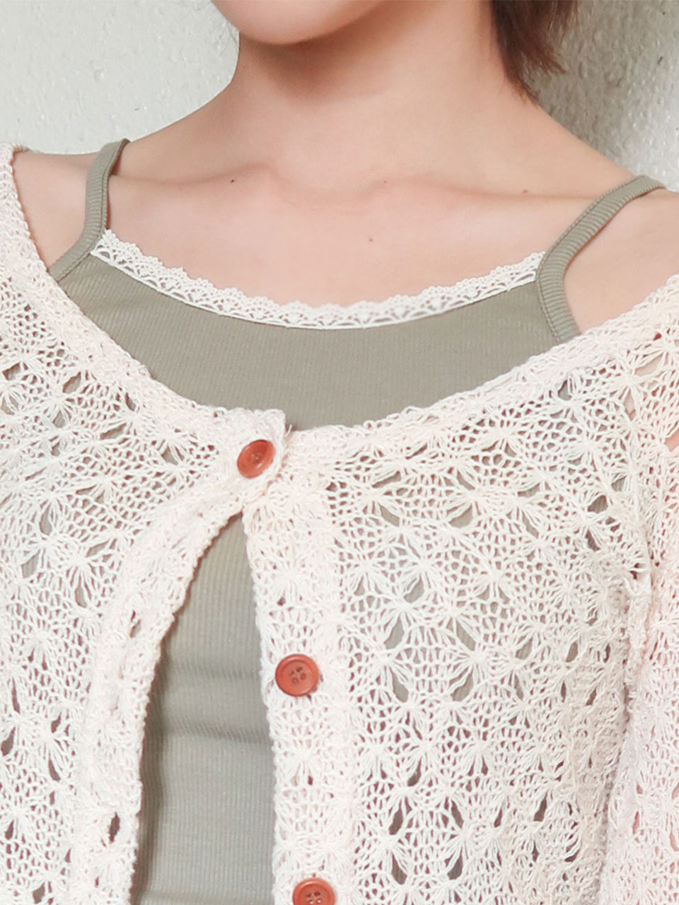 vintage lace sleeveless(3color)