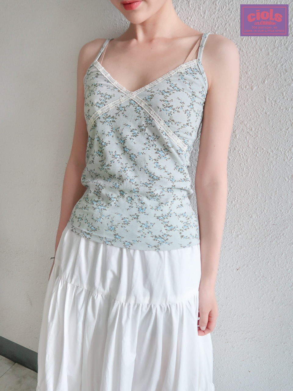 ciols made)Monica lace sleeveless_mint blue