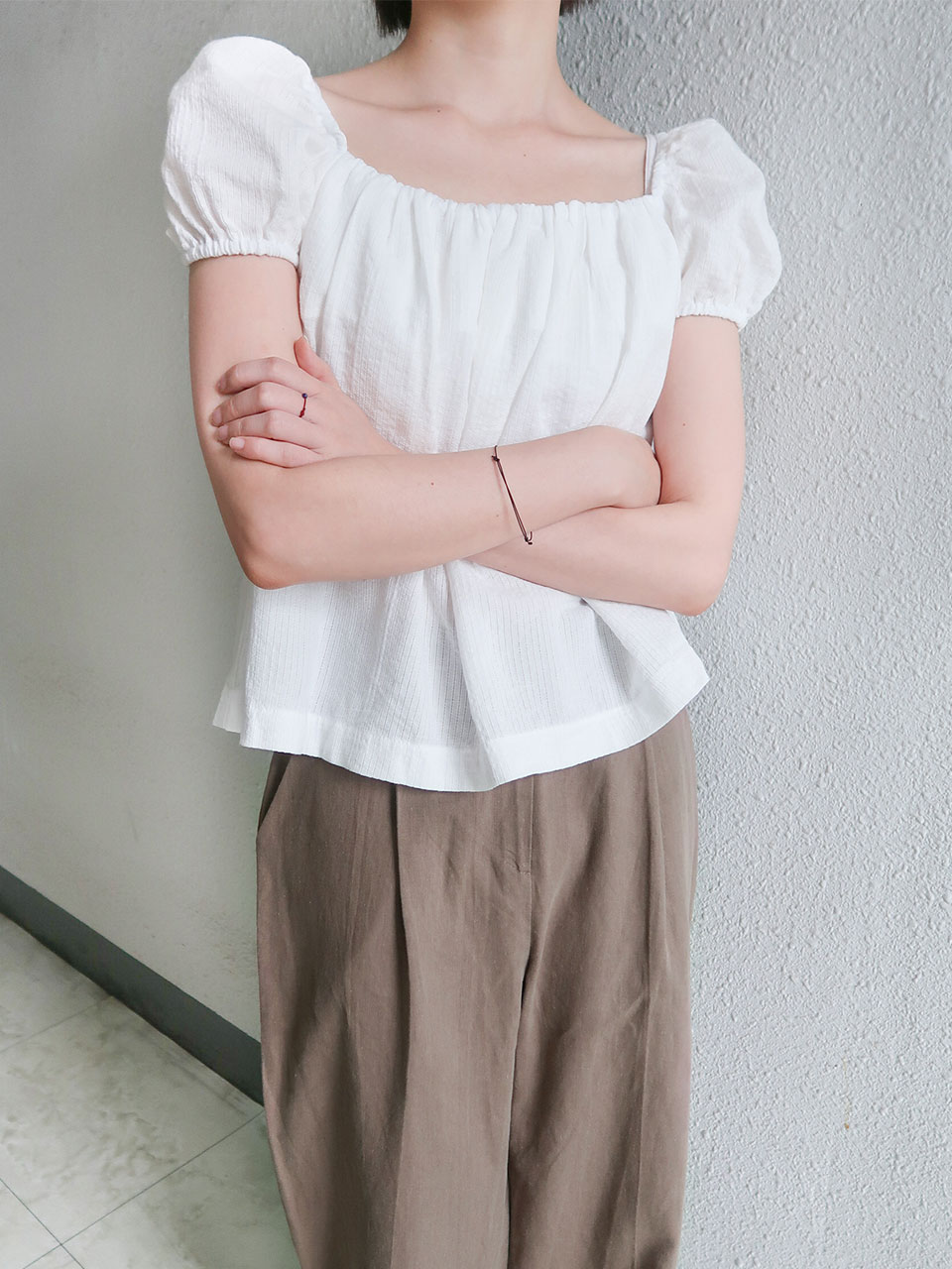 volume banding blouse(2color)