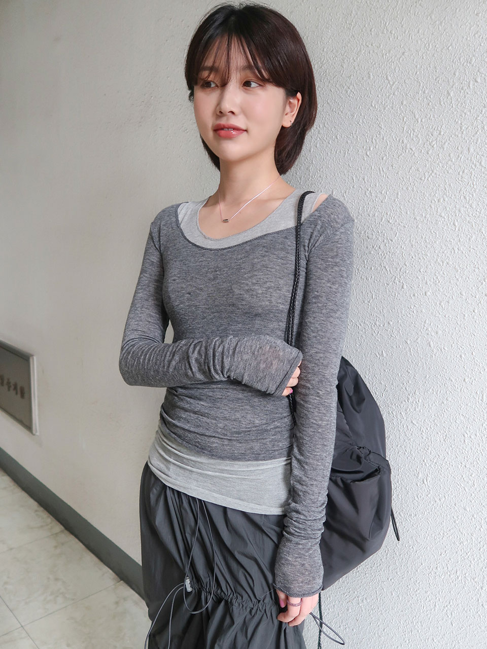 soft layered t-shirt/sleeveless(4color)