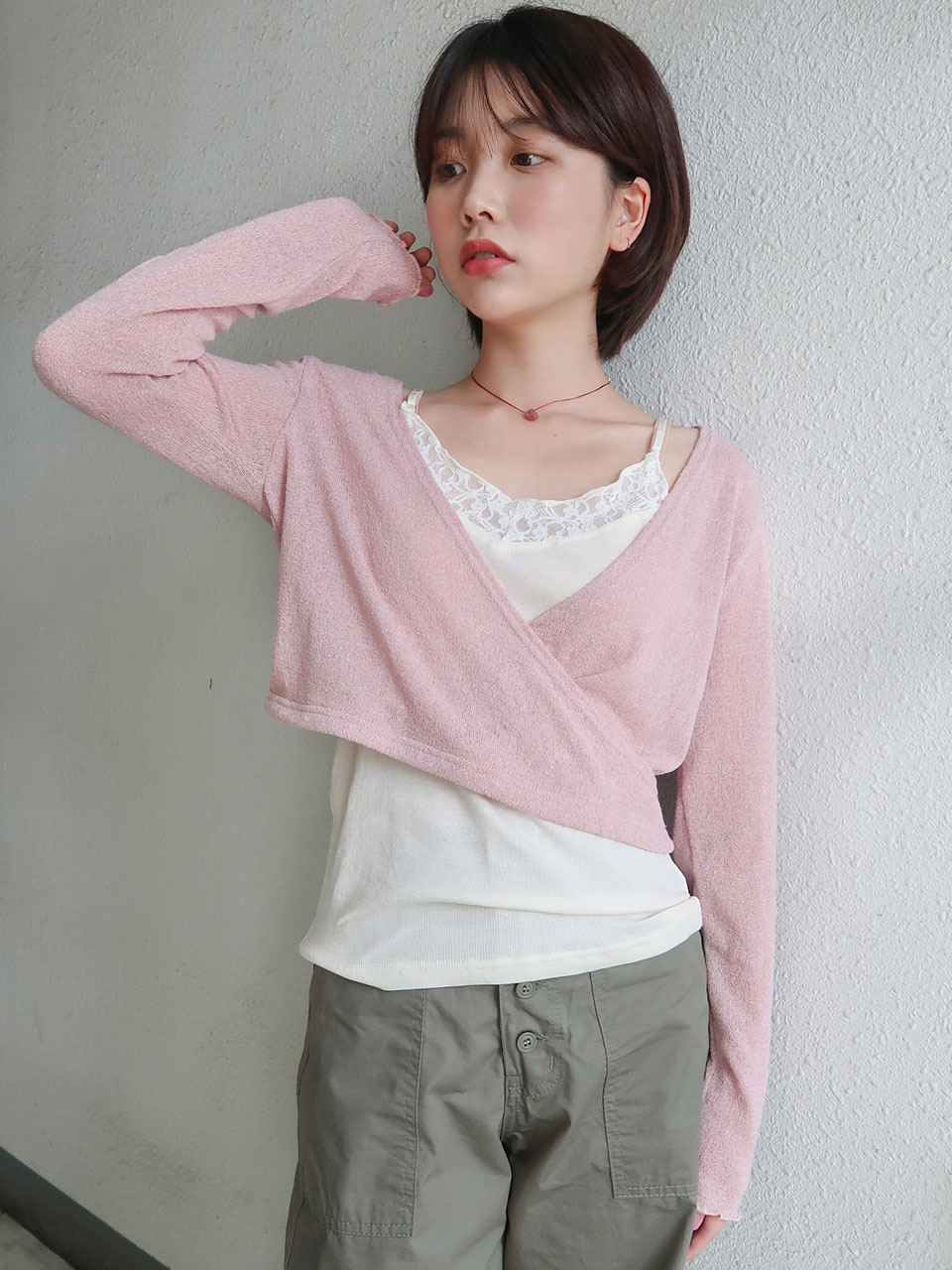 wrap layered knit(3color)