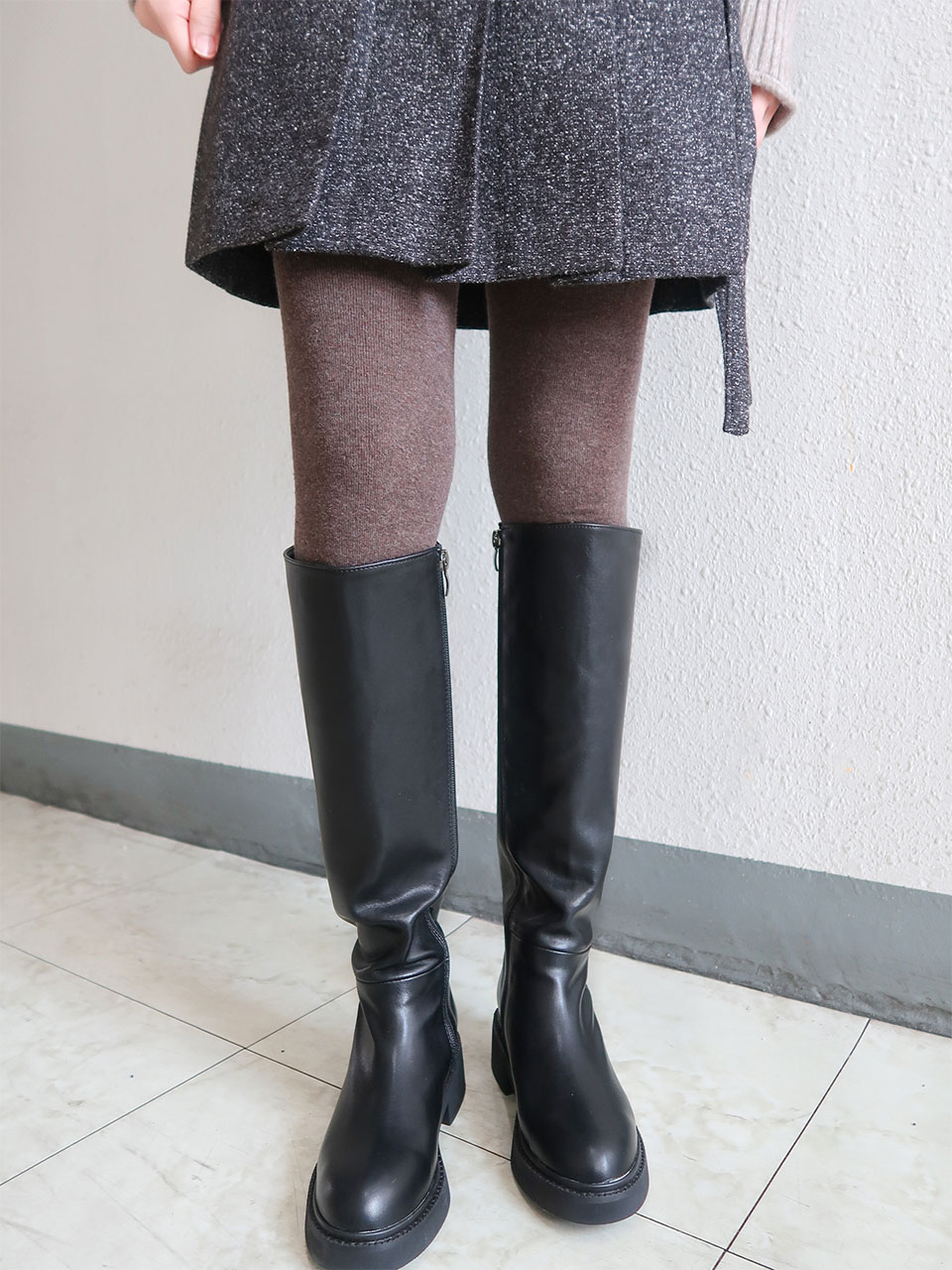round toe long boots(2color)