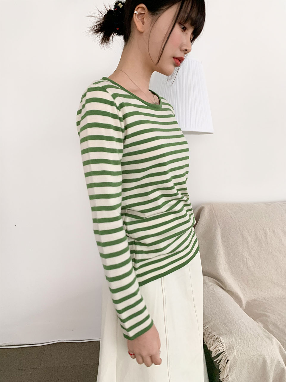 soft stripe round knit(7color)